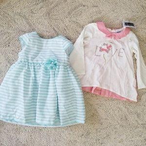Other - 24m Striped Dress & Shirt